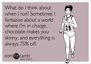what i think of when i am running